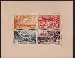 Maroc - 1949 - Bloc Feuillet BF N°Yv. 1 - Solidarité - Neuf Luxe ** / MNH / Postfrisch - Blokken & Velletjes