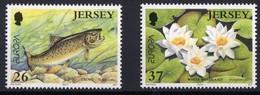 Jersey 2001 Yvertn° 984-985 *** MNH Cote 3,50  Euro CEPT Europa Faune Flore - Jersey