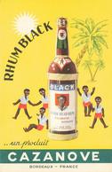 33 BORDEAUX #25095 RHUM BLACK ALCOOL CAZANOVE PUBLICITE - Bordeaux