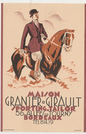 V21-33) BORDEAUX - MAISON GIRAULT - SPORTING TAILOR - 56 ALLEES DE TOURNY - ILLUSTRATEUR WETTERLAND - CAVALIER - CHEVAL - Bordeaux