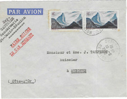 1948 / Lettre Avion De La Réunion / Exp Gauthier Gendarmerie St-Denis - 1921-1960: Modern Period