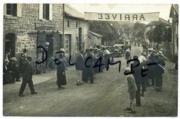 SAINT-HILAIRE-LE-CHATEAU (Creuse). Course Cycliste Pour La Fête De St-Gervais(environ 1925). Carte-Photo Rare!!!!!! - Other Municipalities