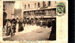 PERPIGNAN - Grande Manifestation Viticole - Vue Prise De La Place Du Castillet - Perpignan