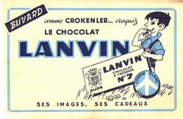 L 13/04 / Buvard Chocolat Lanvin (Format 20 X 12) (N= 4bis) - Cocoa & Chocolat