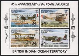 BIOT 1998 - Mi-Nr. Block 11 ** - MNH - Flugzeuge / Airplanes - British Indian Ocean Territory (BIOT)