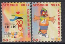 2015 Georgia Tbilisi Youth Olympic Festival Complete Set Of 2 MNH - Georgia