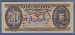"""Banknote Ungarn 50 Forint, Gelocht Und Mit Aufdruck """"Minta"""", 1969 - Other - Europe"""