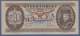 Banknote Ungarn 50 Forint, Gelocht,  Mit Rotem Aufdruck MINTA  - Other - Europe