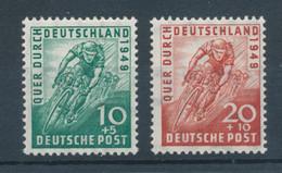 Bizone 1949, Radrennen, Mi.-Nr. 106-107 Kpl. Satz 2 Werte  ** - Bizone