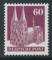 Bizone Bautenserie Enge Zähnung K14, 60 Pfg Kölner Dom, Mi.-Nr. 93 WA ** - Bizone