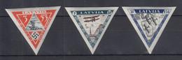 Latvija / Lettland 1933 Flugpost Flieger-Hilfsfonds Mi-Nr. 225-227 B Satz * - Latvia