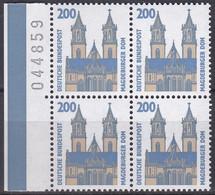 BRD, Sehenswürdigkeiten (XIII), 1993, Mi.Nr. 1665 ** Ein Viererblock Mit Bogenzähler - Neufs