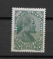 1918 MNH Liechtenstein Mi 10 Postfris** - Ungebraucht