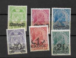 1920 MNH Liechtenstein Mi 11-16 Postfris** - Ungebraucht