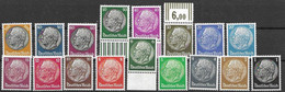 1933-36 Complete Hindenburg Set Mnh ** Swastika Wtm 80 Euros (+ Up To 95 Euros For 3 Stamps Walzendruck) - Nuevos