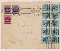 Deutsches Reich - 1923 - 750.000 Mark Franking On International Letter From Hamburg To Dublin / Ireland - Storia Postale