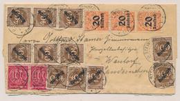 Deutsches Reich - 1923 - 40 Stamps On Inland Dienstcover From Steinhorst To Wendorf - Storia Postale