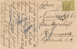 Deutsches Reich - 1923 - 500 Mio Mark, Single Stamp On Inland Postkarte From Essen To Hannover - Storia Postale