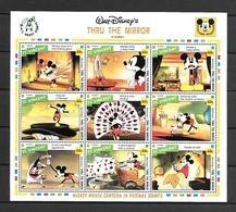 Disney St Vincent 1992 Thru The Mirror Sheetlet MNH - Disney
