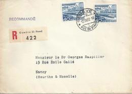 R Brief  Genève Rue Du Stand - Nancy  (Rollenfrankatur)           1952 - Cartas