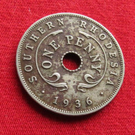 Southern Rhodesia 1 One Penny 1936 KM# 7 Rodesia Do Sul Rhodesie - Rhodesia