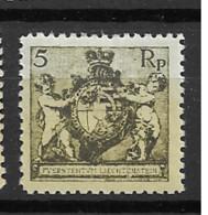 1921 MNH Liechtenstein Mi 48-B Postfris** - Ungebraucht