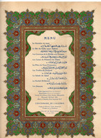 Menu  Centenaire De L Algerie Palais De Mustapha Le 04 05 1930 Voyage De Monsieur Doumergue President De La Republique - Menus