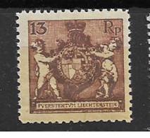 1921 MNH Liechtenstein Mi 51-B Postfris** - Ungebraucht