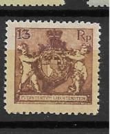 1921 MH Liechtenstein Mi 52B - Ungebraucht