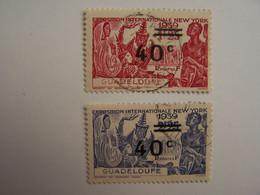 France Guadeloupe 1884-1947  Surcharge 1939 Exposition Internationale NEW YORK - Oblitérés