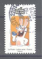 France Autoadhésif Oblitéré N°1888 (Jeunesse Lapins Crétins) (cachet Rond) - 2010-.. Matasellados