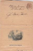 WIENER SCHACHKLUB, ECHECS CHESS AJEDREZ. AUTRICHE, ENTIER. CIRCULEE WIEN, ANNEE 1912. RARE.- LILHU - Chess