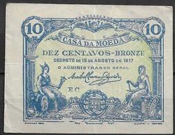 Portugal - 1917 - Casa Da Moeda - Bronze - Banknote - Serie EC - 10 Cents - Portugal