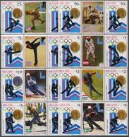 Belize 1982. Mi.#501/08+Bl.#20/21 MNH/Luxe. Sport. Winter Olympics Winner, Lake Placid-80 (Ts58) - Belize (1973-...)