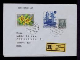 AUSTRIA 1965 Flowers Fleurs Flora Raffinerie Industry Factory Gc5514 - Factories & Industries