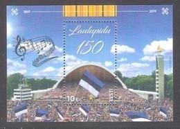 100th Anniversary Of Song Festival Estonia 2019 Sheet MNH  Mi BL 47 - Estonia