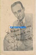 157660 ARGENTINA ARTIST JUAN D'ARIENZO SINGER TANGO AUTOGRAPH NO POSTAL POSTCARD - Artisti