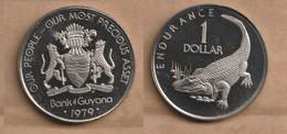 GUYANA  1 Dollar  1979  Copper-nickel • 19.1 G • ⌀ 35.5 Mm KM# 42, Schön# 42 - Guyana