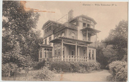 CPA Clarens (Suisse ) La  Pension   Villa Dubochet  N° 8   Rare  Vue Sur Le Lac   Cachet Ambulant   1920 - VD Vaud