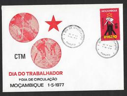 1977 - FDC - Mozambique - Maputo - Labor Day - 1st Circulation Day - CTM - Mozambique