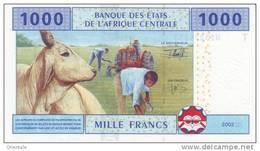 CENTRAL AFRICAN STATES P. 107T  1000 F 2002 UNC - Republic Of Congo (Congo-Brazzaville)