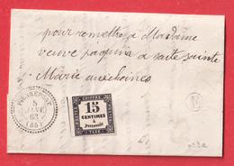 TAXE N°3 NSG CAD TYPE 22 PIERREPONT MEURTHE ET MOSELLE BOITE RURALE E BAZAILLES - Postage Due Covers