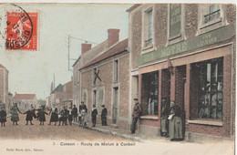 CPA Cesson (77) Route De Melun à Corbeil  Epicerie Mercerie Tabac Noiré  éditeur De La Carte   Animée - Cesson