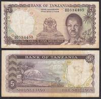 TANSANIA - TANZANIA 5 Schilling (1966) Pick 1a F (4)     (28831 - Otros – Africa