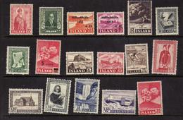 Islande (1950-57)  - - Paysages -  Volcan - Celebrites  - Neufs*  - MLH - Ohne Zuordnung