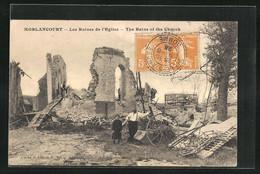 CPA Morlancourt, Les Ruines De L`Eglise - Zonder Classificatie