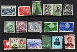 Islande (1956-61)   - - Paysages - Faune - Flore - Europa  - Celebrites  - Neufs*  - MLH - Ohne Zuordnung