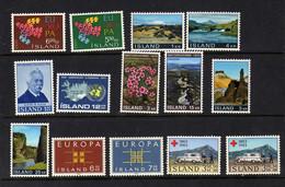 Islande (1961-70)   - - Paysages  - Europa  - Celebrites  - Croix-rouge  - Neufs*  - MLH - Ungebraucht