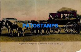 157692 URUGUAY COSTUMES CARRIAGE A HORSE DILIGENCIA DE CAMPO POSTAL POSTCARD - Uruguay