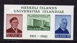 Islande (1961)  - BF  Cinquntenaire De L' Universite    - Neufs*  - MLH - Blocks & Kleinbögen